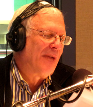 Andy Barrie in studio (Dwight Friesen-CBC)